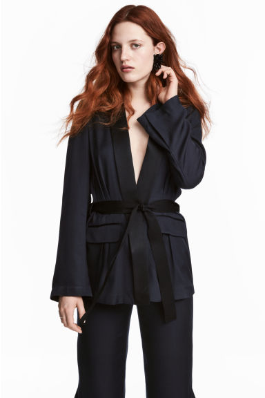Silk-blend jacket Model
