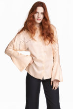Silk blouse - Light beige -  | H&M CA 1