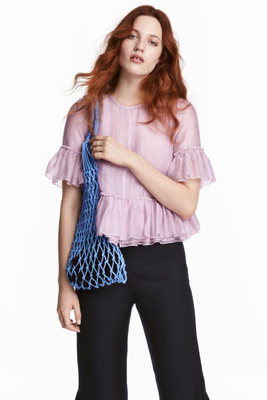 Top con volant misto lyocell - Lilla -  | H&M IT 1