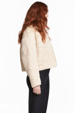 Padded jacket - Light beige -  | H&M 1
