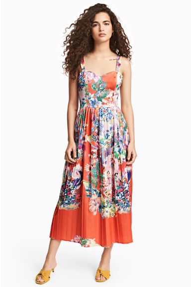 Patterned dress - Coral - Ladies | H&M 1