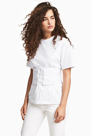Corset top - White - Ladies | H&M 1