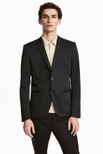 Cotton jacket Skinny fit - Black - Men | H&M 1
