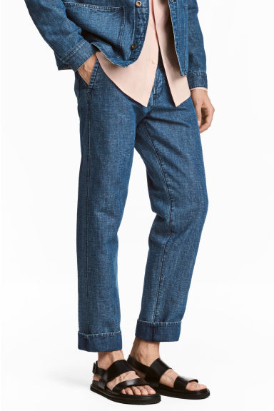 Chinos i denim - Denimblå - Men | H&M FI 1