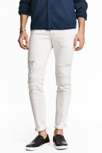 Skinny Low Trashed Jeans - White denim - Men | H&M 1