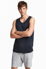 Vest top - Dark blue - Men | H&M CA 1
