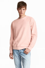 Sweatshirt - Light pink - Men | H&M 1