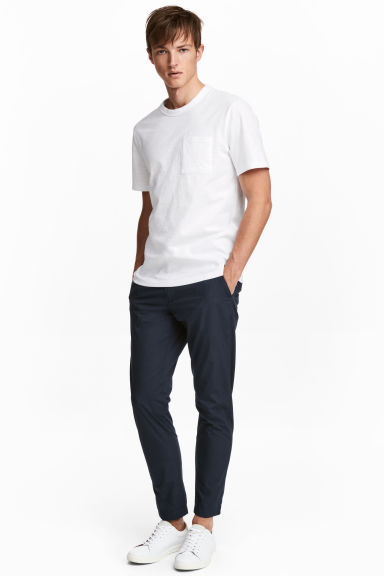 Cotton chinos - Dark blue - Men | H&M 1