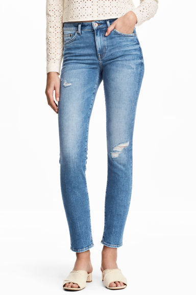 Slim Regular Ankle Jeans - Denim blue - Ladies | H&M