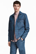 Denim utility jacket - Denim blue - Men | H&M CN 1