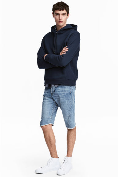 Denim shorts - Light denim blue - Men | H&M 1