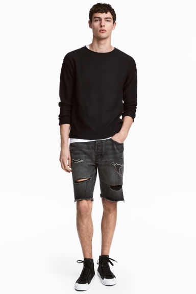 Short en jean - Noir washed out - HOMME | H&M FR 1