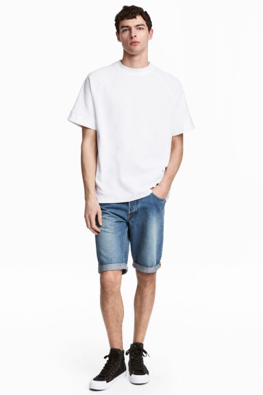 Denim shorts - Denim blue - Men | H&M 1