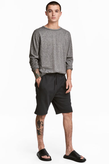 Sweatshirt shorts - Black - Men | H&M CA 1