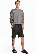 Sweatshirt shorts - Black - Men | H&M CN 1