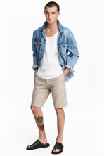 Knee-length cotton shorts - Beige -  | H&M CN 2