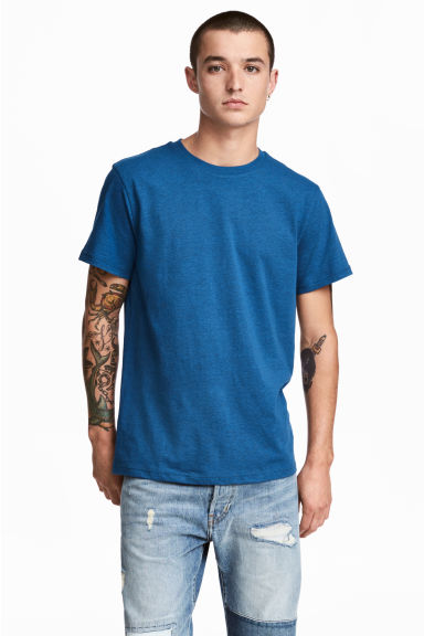 Round-necked T-shirt - Blue - Men | H&M
