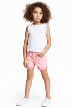 Denim shorts - Washed-out pink -  | H&M 1