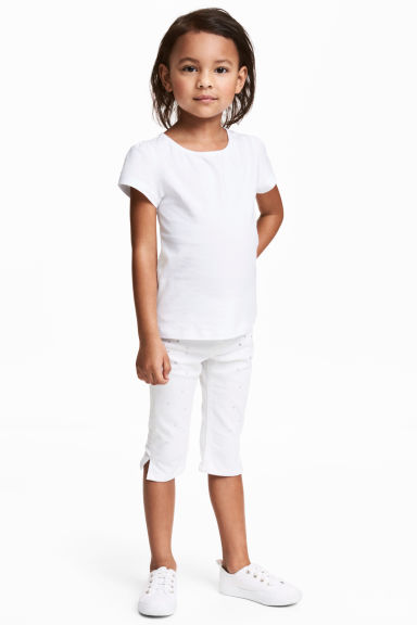 Legging 3/4 en denim - Blanc - ENFANT | H&M FR 1