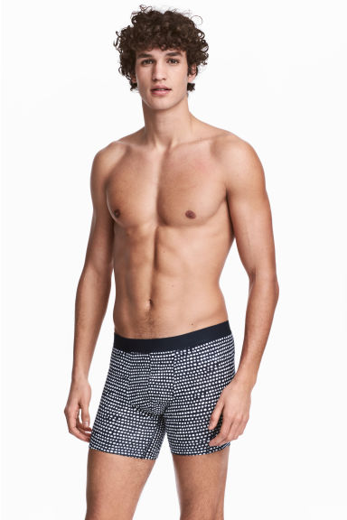 3-pack boxer shorts - Dark blue/Spotted - Men | H&M 1
