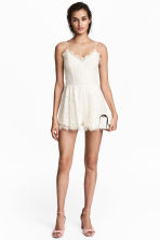 Lace playsuit - Natural white -  | H&M 1