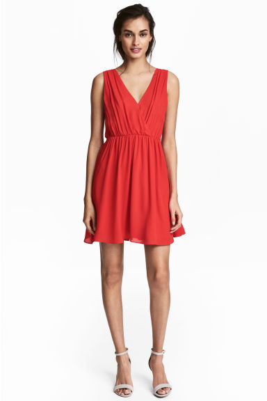 V-neck dress - Red - Ladies | H&M CA