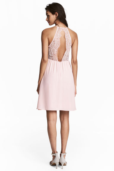 Dress with lace details - Light pink - Ladies | H&M