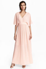 Long chiffon dress - Powder pink - Ladies | H&M CN 1