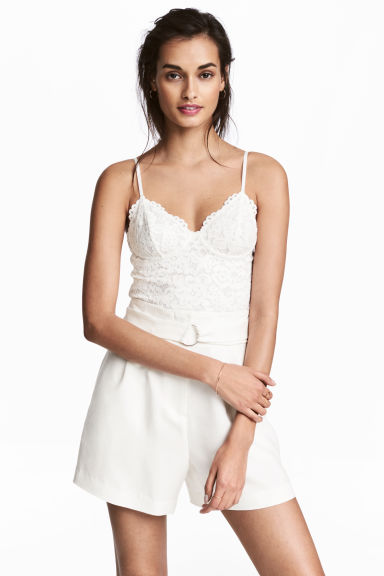 Bustier top - Natural white - Ladies | H&M CN 1
