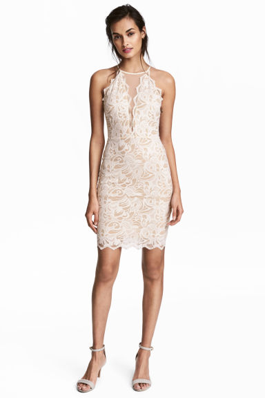 Short lace dress - Natural white - Ladies | H&M 1