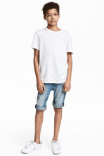 Tapered denim shorts - Denim blue -  | H&M 1