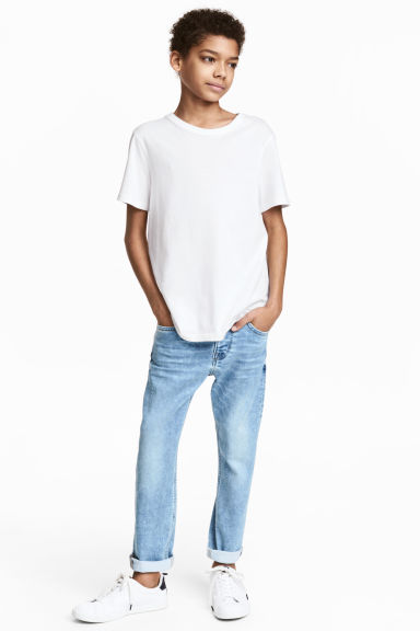 Super Soft Relaxed Jeans - Light denim blue - Kids | H&M IE