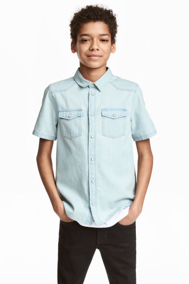 丹寧襯衫 - Pale denim blue - Kids | H&M 1