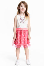 Dress with a tulle skirt - White/Hello Kitty - Kids | H&M 1