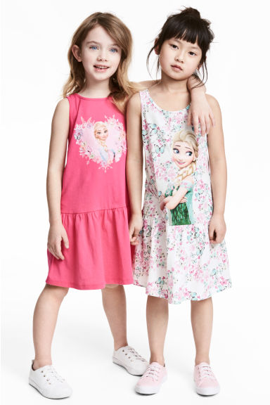 2-pack jersey dresses - White/Frozen - Kids | H&M 1
