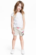 Printed shorts - Light beige/Minnie Mouse -  | H&M 1
