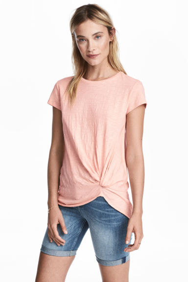 Jersey tie top - Powder pink - Ladies | H&M