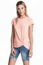 Jersey tie top - Powder pink - Ladies | H&M CN 1