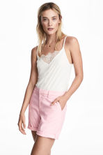 Cotton shorts - Pink/White striped - Ladies | H&M IE 2
