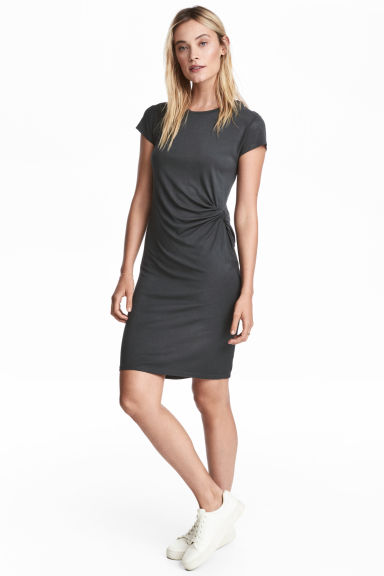Short dress - Dark grey - Ladies | H&M CN 1