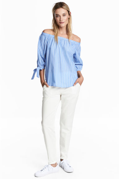 Chinos - White - Ladies | H&M GB