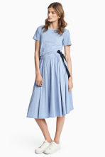 Jersey dress with ties - Light blue - Ladies | H&M CN 1