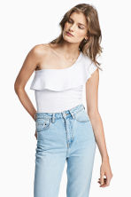 One-Shoulder-Shirt - Weiss - DAMEN | H&M CH 1