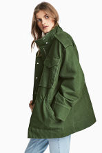 Cargo jacket - Khaki green - Ladies | H&M CN 1