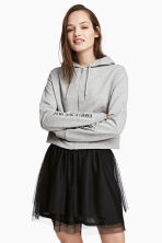 Short hooded jacket - Grey marl - Ladies | H&M 1
