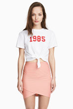 Fitted skirt - Powder pink - Ladies | H&M CN 1