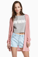 Fine-knit cardigan - Pink - Ladies | H&M 1
