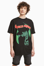 T-shirt with a print motif - Black/Marilyn Manson - Men | H&M CN 1