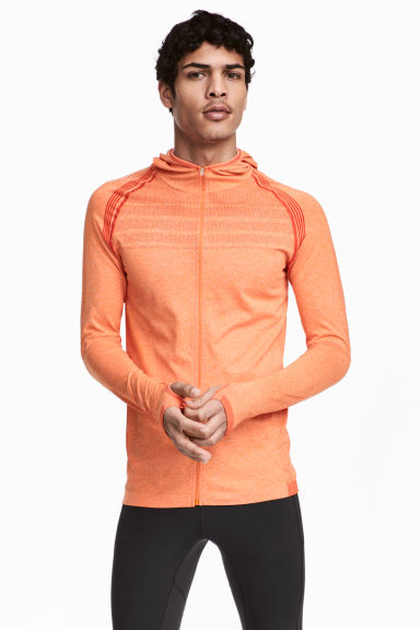 Veste running sans coutures - Orange chiné - HOMME | H&M FR
