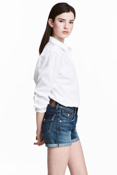 Denim shorts - Dark denim blue - Ladies | H&M CN 1